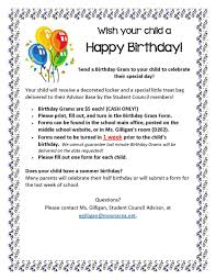 send a birthday gram birthday gram moon area middle school