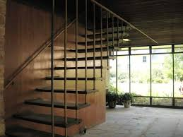 alluring stairs design by the wall with cedar wood steps and led