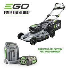 Ego Self Propelled Lawn Mower Rapid Charger And 7 5ah Lithium