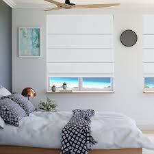White Bedroom Blinds - buy roman blinds seville blockout white