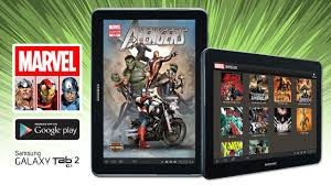 marvel comics on samsung galaxy tab 2 10 1 youtube