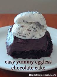 eggless chocolate cake recipe happy simple living