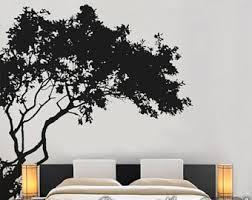 corner tree decal etsy