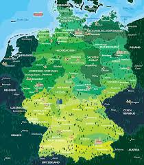 map of regions of germany map of germany guide of the world
