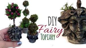 What Is A Topiary Tree Diy Miniature Pots For Miniature Topiary Trees Fairy Sized Youtube