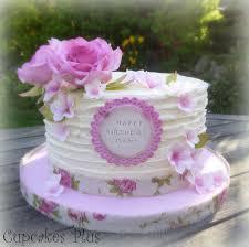 rustic buttercream birthday cake sugar flowers gum paste