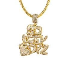 custom pendant so icey boyz diamond custom pendant 14k yellow gold 8 75 ctw