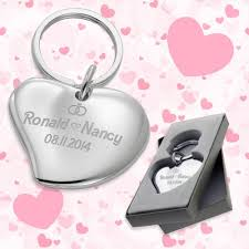 cuore heart shaped wedding favors keychains wedding keychains