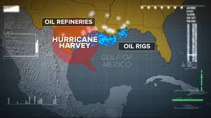 Refineries In Usa Map by Eye Of Hurricane To Pass Over Area Home To Nearly Half Of