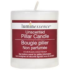 bulk luminessence unscented white pillar candles 2 at