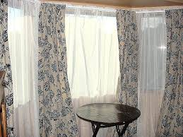 High Window Curtains Window Covering Ideas For High Windows Hanging Curtains On Bay