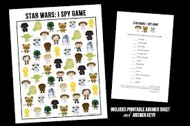 free star wars game spy printable live laugh rowe