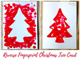reverse fingerprint christmas tree card rhythms of play