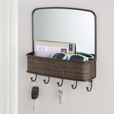 amazon com interdesign twillo mirror with mail holder and key