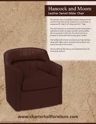 leather swivel glider chair charterhall fine interiors purveyors of fine furniture