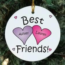 personalized snowmen ornament best friends need
