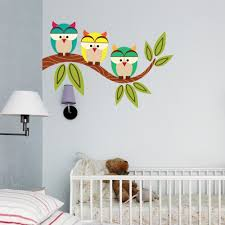 owl wall decals designed for kid bedrooms inspiration home designs image of owl wall decals for baby room