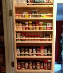 Kitchen Cabinet Door Spice Rack Kitchen Winsome Pantry Door Spice Rack Design Ideas Made 4 Decor