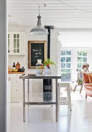 stainless steel kitchen work table island white kitchen with a stainless steel work table as an island