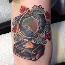 travel tattoo by inkit tattoo on ink loves travel inkit tattoo