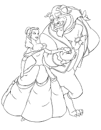 3 fantastic beauty beast coloring pages ngbasic