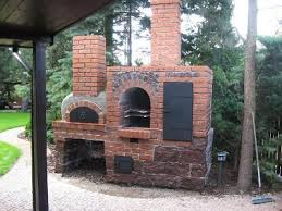 Brick Oven Backyard by Great Brick Outdoor Oven With A Wood Fired Oven And Smoker