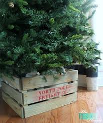 white wood tree base diy projects