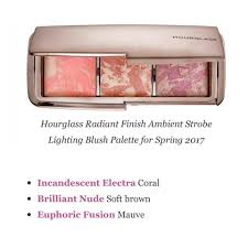 hourglass ambient strobe lighting blush palette พร อมส ง hourglass radiant finish ambient strobe lighting blush