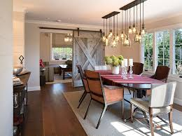 Lighting For Dining Room Table 30 Unassumingly Chic Farmhouse Style Dining Room Ideas