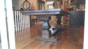 Restoring Barn Wood 1880 U0027s Barn Wood Table Supported By Osborne Pedestals Osborne