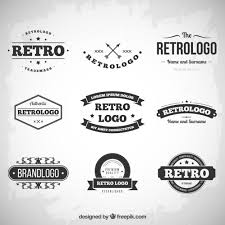 design free logo download retro logos collection vector free download