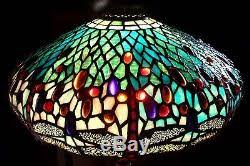 Tiffany Floor Lamp Shades Vintage Tiffany Style Stained Glass Dragonfly Lamp Shade 404