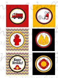 firefighter cupcake toppers firefighter truck printable cupcake toppers printable