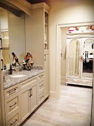 Taupe Cabinets Kith Cabinets For A Contemporary Kitchen With A Black Floors And