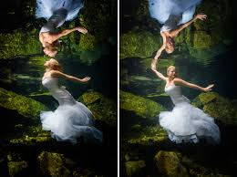 hope and kevin u0027s underwater trash the dress