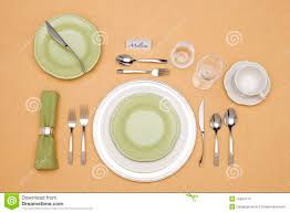 Formal Dinner Place Setting Beautifully Served Table Formal Dinner Setting Stock Vector