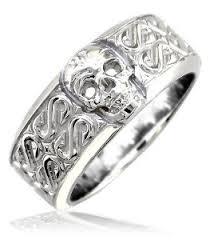 mens skull wedding rings cheap discount mens or wide skull ring wedding band