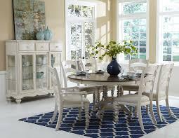 7 piece round dining room set cramco inc denali 7 piece
