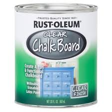 rust oleum specialty 30 oz clear chalkboard paint case of 2