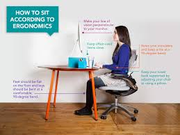 Ergonomic Computer Desk Setup Here U0027s How You Should Be Sitting At Your Desk According To