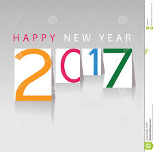 happy new year greeting card 2017 stock vector image 70828174