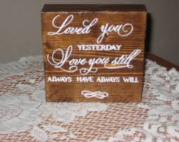 loved you yesterday love you still banner sign christmas