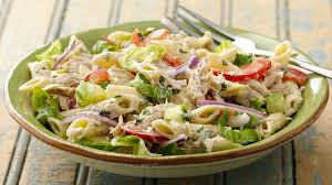 pasta salad with tuna tuna pasta salad recipe tablespoon com