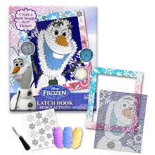 Latch Hook Rugs For Sale Amazon Com Disney Frozen Olaf 8 U201d X 10 U201c Hook And Latch Activity