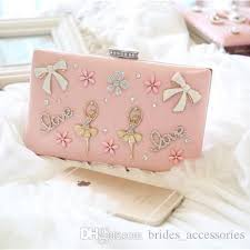 personalized wedding favor bags pink girl bridal bags club party clutch evening bags