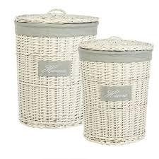 tutorial decoupage en mimbre cestos de mimbre blanco combinados con tejido cestos y baúles