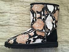ugg womens alloway shoes zebra ugg s alloway reptile calf hair shoe size 12 ebay