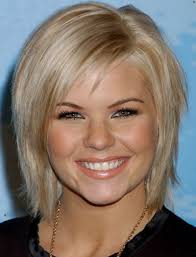 medium to short hairstyles for round faces women medium haircut