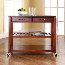 kitchen cart island solid black granite top cherry kitchen cart island