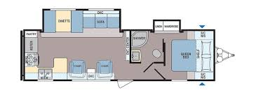 Bunkhouse Trailer Floor Plans Popular Travel Trailer Floorplans